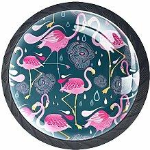 Raindrop Flamingo Pattern Cabinet Door Knobs
