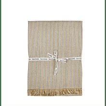 Raine And Humble - Mustard Abby Stripe Tablecloth