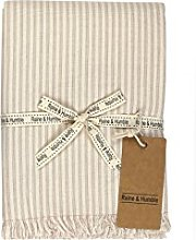 Raine & Humble Manor Stripe Tablecloth, Cotton,
