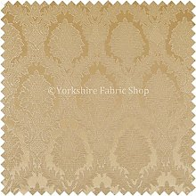 Raised Damask Floral Gold Colour Chenille