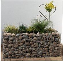 Raised garden , mesh size 5 cm, 100x40x40 cm, wall