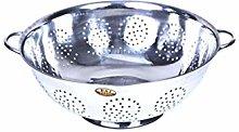 Raj Kitchen Stainless Steel Round Colander Silver
