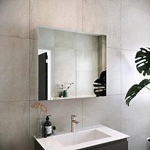 RAK Gemini Double Door Aluminium Mirror Cabinet