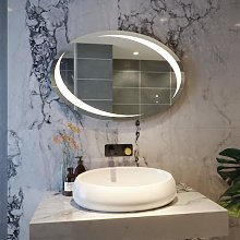 RAK Hades LED Bathroom Mirror with Demister Pad