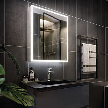 RAK Pisces LED Aluminium Mirror Cabinet with