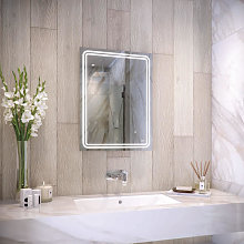 RAK Pluto LED Bathroom Mirror with Demister Pad,
