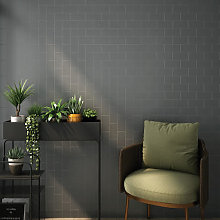 RAK Subway Metro Dark Grey Glossy Tiles - 75 x