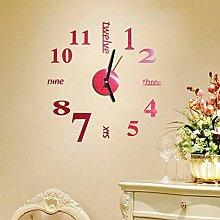 RALMALL 1 x Large Wall Clock, Modern 3D Stick on
