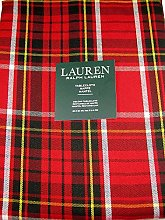 Ralph Lauren Gretchen Tartan Plaid Tablecloth Red