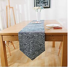 Rancheng Navy Table Runner Wave Table Runners