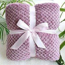 RANFEI Fluffy pineapple grain flanel pink cozy