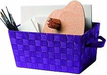 Rangement Cie RAN4417 &Woven Basket Purple