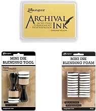 Ranger Archival Chrome Yellow Ink Pad + Mini Ink