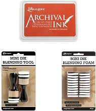 Ranger Archival Monarch Orange Ink Pad + Mini Ink