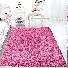 Ranjha's® Barbie Pink Plain 5 cm Thick Shaggy