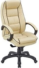 Ranna Leather Faced Executive Chair, Cream