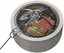 RANRANHOME Outdoor Fire Pit Diameter 17.7Inch