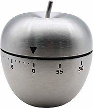 Ranvi Kitchen Timer, Apple-Shaped Stainless Steel