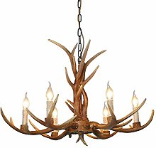 RANZIX Antler Chandelier Ceiling Light Lamp Resin