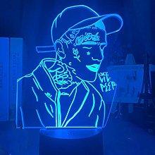 Rapper Lil Peep 3D Illusion Night Light, ABS 16