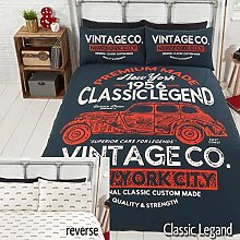 Rapport Reversible 2 Sided Classic Vintage Car