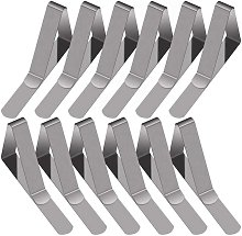 Rare pearl 30 pieces tablecloth clips in stainless