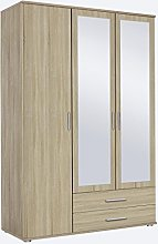 Rasant Rauch 3 Door 2 Mirror Hinged Wardrobe With