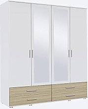 Rasant Rauch 4 Door Hinged Wardrobe With Drawers