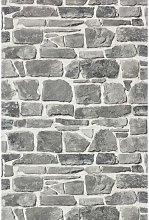 Rasch - Brick Stone Wall Effect - Grey - Luxury