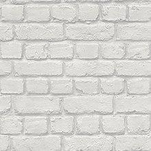Rasch Light Grey Brick Effect Wallpaper (226713)
