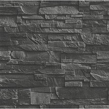 Rasch Slate Brick 3D Effect Brick Slate Pattern