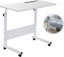 RASHION 80 x 40 cm Laptop Desk, Height Adjustable
