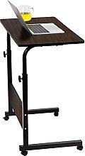 RASHION Height Adjustable Mobile Table,