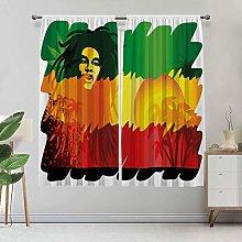 Rasta Lihgtproof Curtains, Iconic Reggae Music