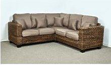 Rattan Conservatory Sofa in Autumn Biscuit -