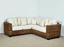 Rattan Corner Conservatory Sofa in Oatmeal -