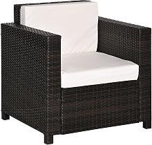 Rattan Garden 1 Seater Chair Wicker Weave Single