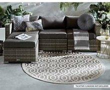 Rattan Garden Corner Sofa Set in Grey - 4 Piece -
