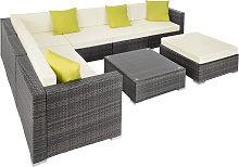 Rattan garden furniture lounge Marbella - grey