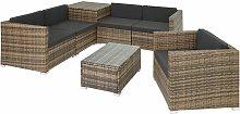 Rattan garden furniture lounge Pisa - garden sofa,