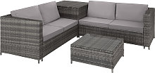 Rattan garden furniture lounge Siena - grey