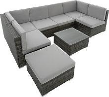 Rattan garden furniture lounge Venice - grey