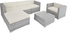 Rattan garden furniture Milano - light grey