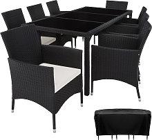 Rattan garden furniture set 8+1 Valencia with