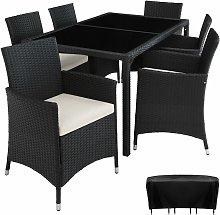 Rattan garden furniture set Lissabon 6+1 with