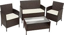 Rattan garden furniture Set Madeira - brown