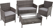 Rattan garden furniture Set Madeira - grey