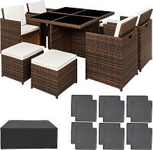 Rattan garden furniture set Manhattan with