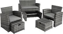Rattan garden furniture set Modena - grey