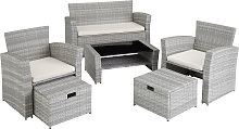 Rattan garden furniture set Modena - light grey